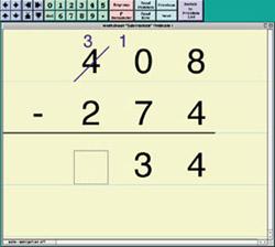 math worksheet : assistive technology mathpad : Electronic Math Worksheets
